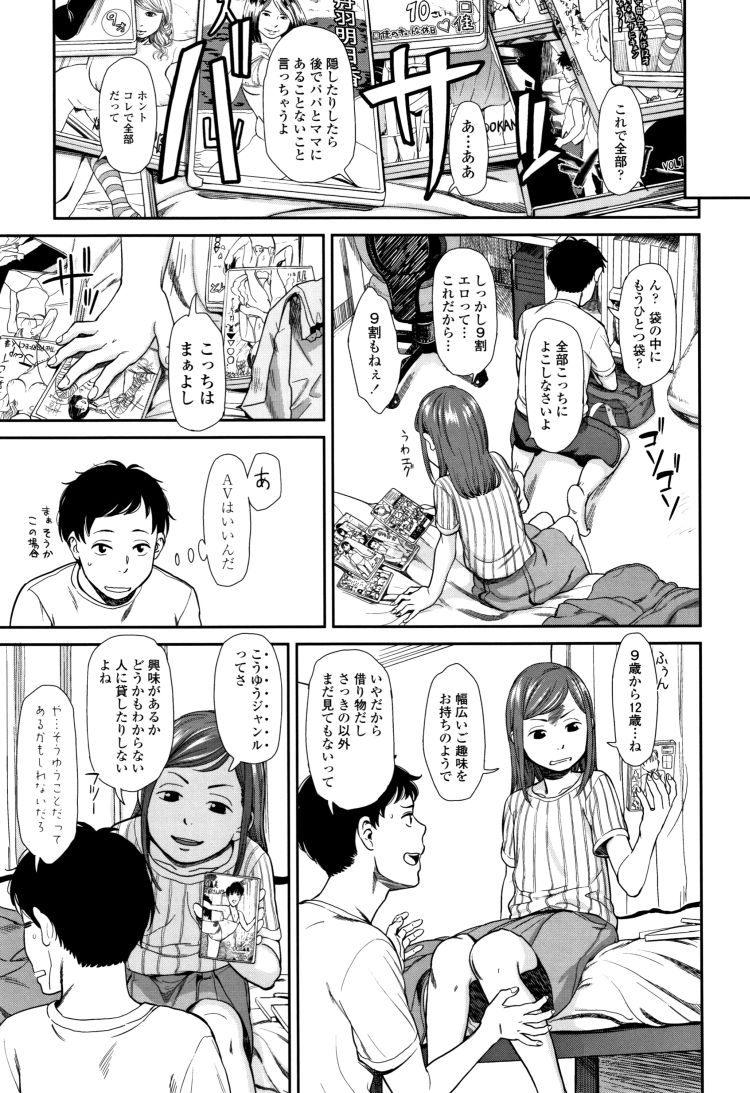 【JSエロ漫画】ロリ系のAVを妹に見つかって大ピンチ!?超ツンツンな妹とまさかの近親相姦へ_00003