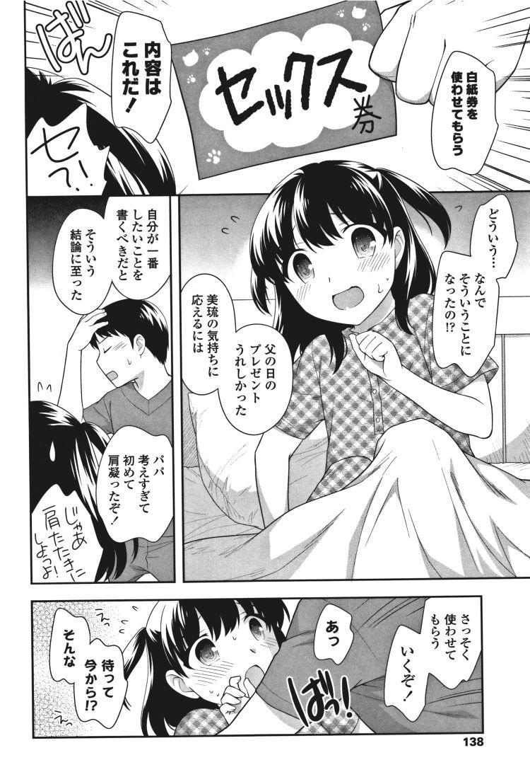 【JSエロ漫画】娘がくれたプレゼント白紙券に