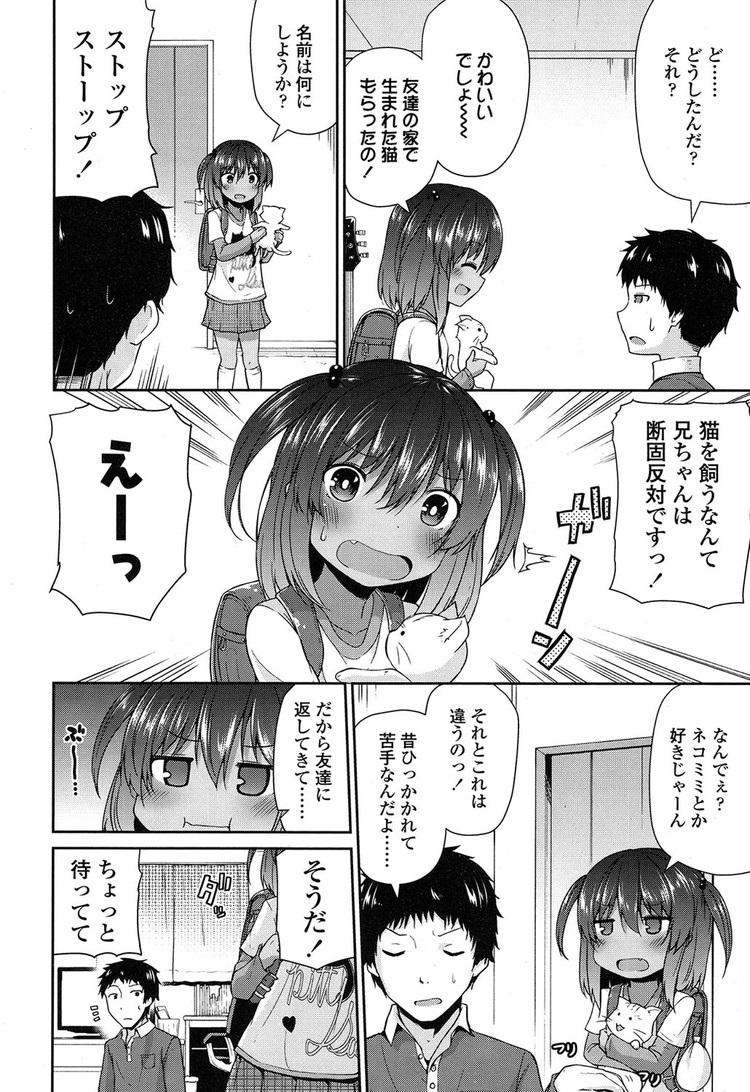【JSエロ漫画】ネコ嫌いな兄をコスプレセックスで落す小麦肌のビッチな妹がエロい